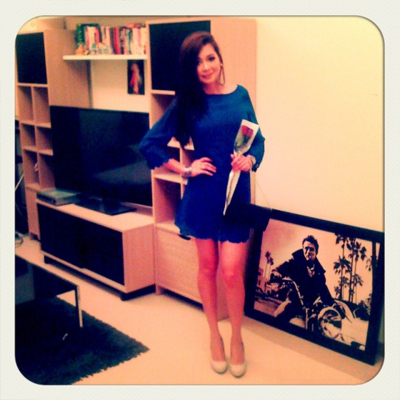 Happy away and happy to be home too. Dress by Topshop. Shoes by Charles and Keith.