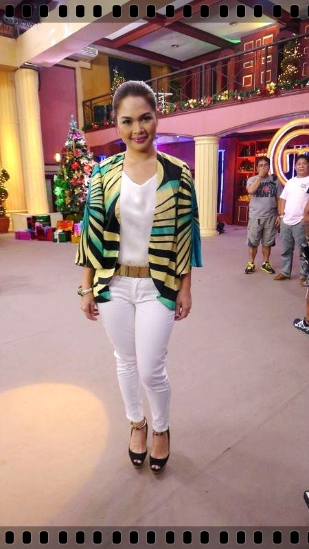 Judy Ann wearing the butterfly bolero.
