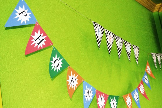 Bithday banners by Little Crafts.