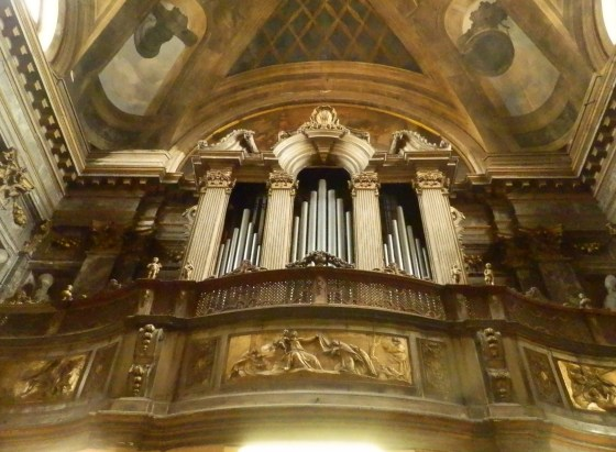 What's an old Catholic cathedral without a giant organ?