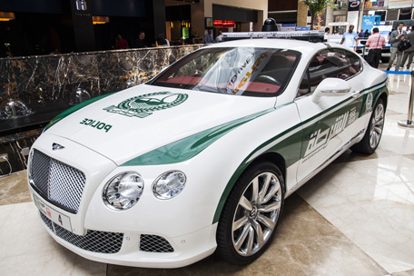 Bentley police car